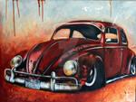 Red rusty beetle