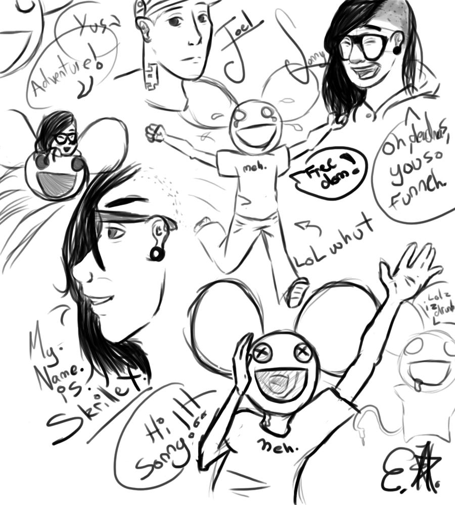 Skrillex And Deadmau5 Drawing