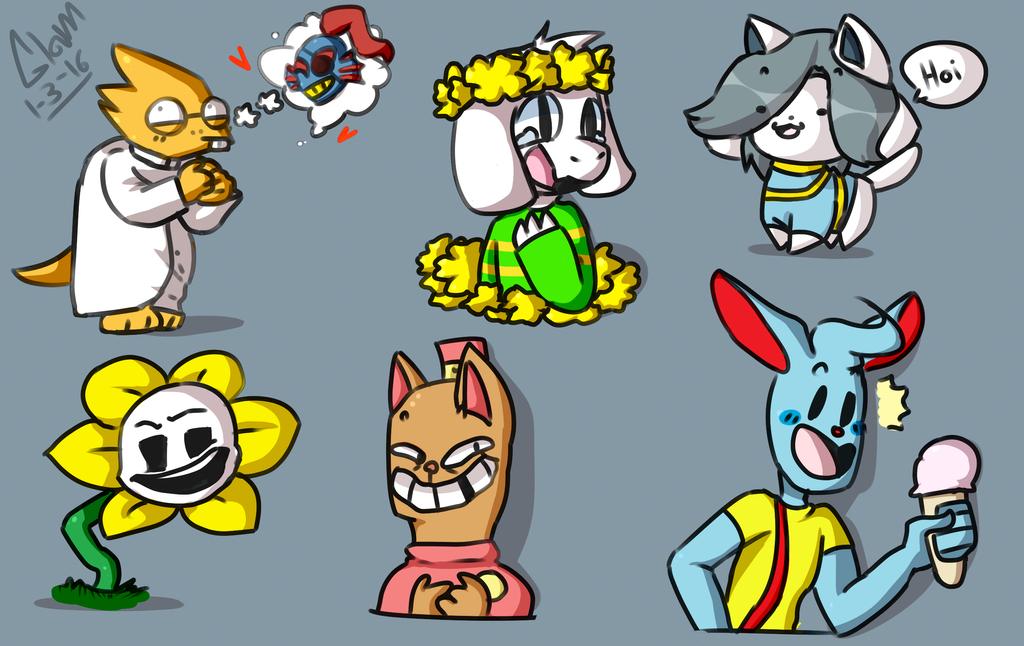 Undertale Doodles By Glamorsaurus On DeviantArt