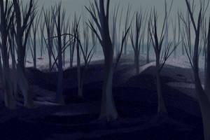 Forest background by DerpInc