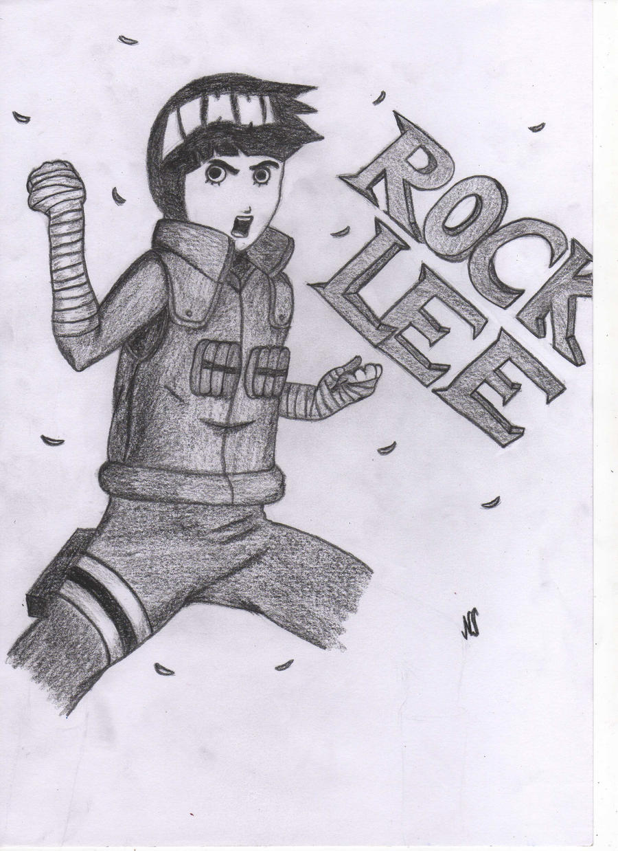 Drawing of Rock Lee by Luconia on DeviantArt