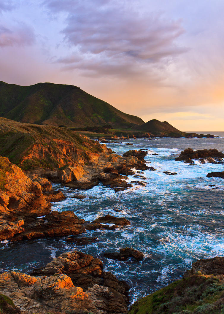 garrapata sunset by worthdyingfor