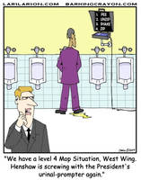 Urinal-Prompter by Conservatoons