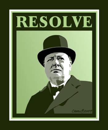 Winston Churchill Graphic by Conservatoons