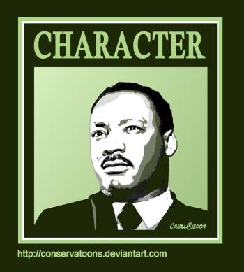 MLK Graphic by Conservatoons