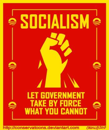 Socialism a la Obama by Conservatoons