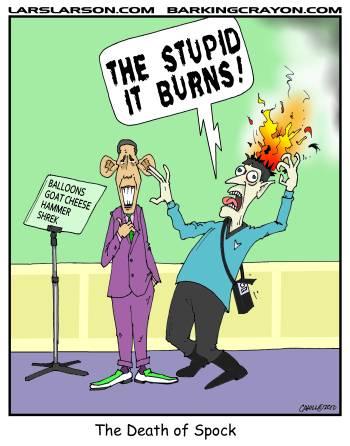 Obama Kills Spock by Conservatoons