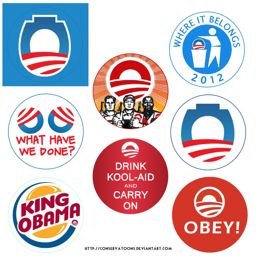 Conservative Buttons by Conservatoons