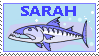 Sarah Barracuda stamp by Conservatoons