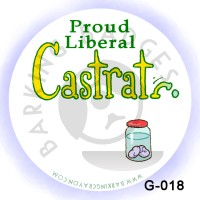 Proud Liberal Castrati Button by Conservatoons