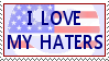 I love my Haters stamp by Conservatoons
