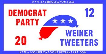 Democrat Weiner Tweeters by Conservatoons