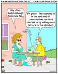 Rush Limaugh's Tea cartoon