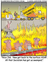 Socialists in Hell by Conservatoons
