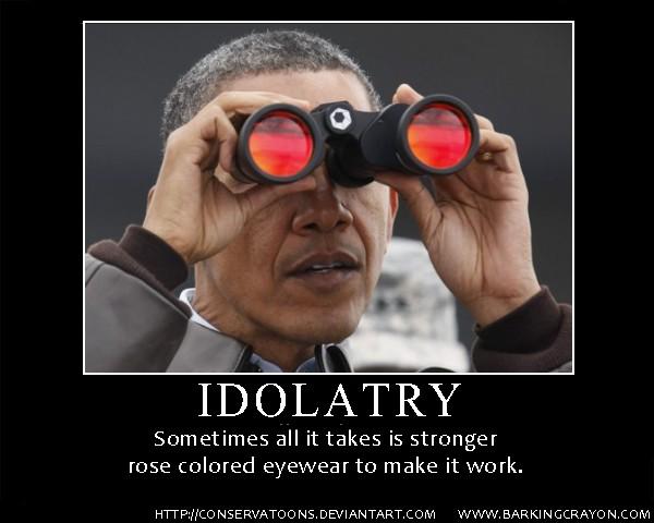 Obama Glasses Motivator poster by Conservatoons