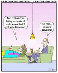 Delusional Liberal cartoon