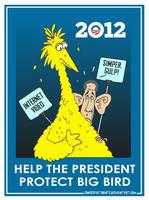 Obama Saves Big Bird? by Conservatoons