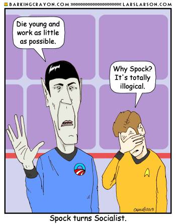 Spock the Socialist by Conservatoons