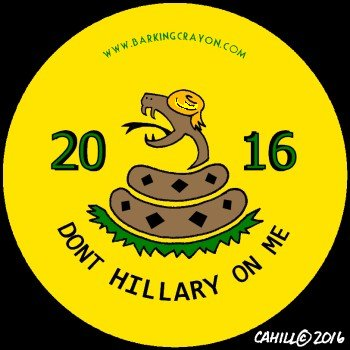Dont Hillary on me button by Conservatoons