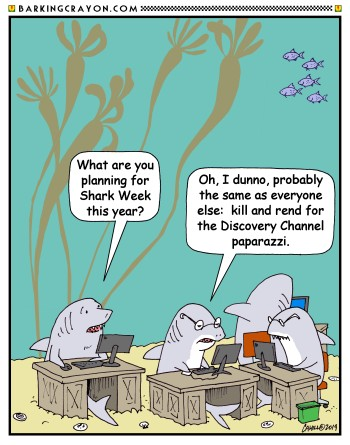Shark Week 2019 cartoon 10 by Conservatoons on DeviantArt