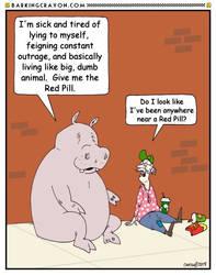 Red Pilled cartoon