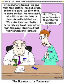 Bureaucrat Answer Cartoon