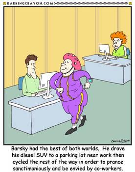 Phony Cyclist Cartoon