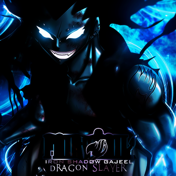 Iron Shadow Gajeel Large Art by DraoxGajeel Shadow Iron Dragon