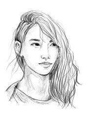 Shin Min-A sketch by PastelGiraffe