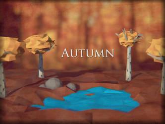 Autumn Poly Art by Littlenorwegians