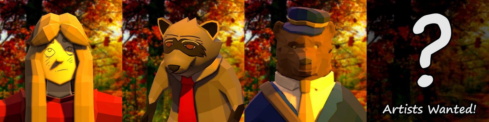Poly Artists Wanted for Autumn! (Game Project) by Littlenorwegians