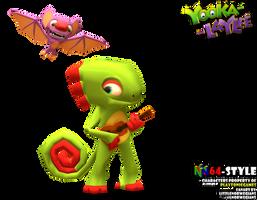 Yooka-Laylee N64-style by Littlenorwegians