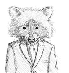 Raccoon Sketch by Littlenorwegians