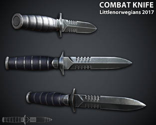 Combat Knife by Littlenorwegians