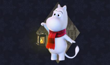 Winter Moomin by Littlenorwegians