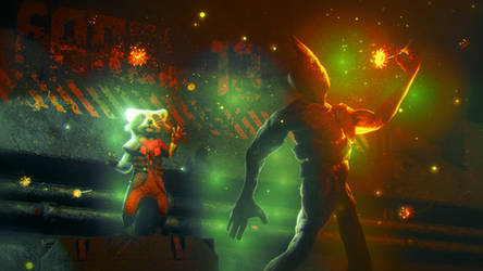 Groot and Rocket