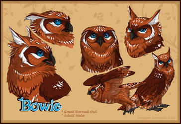 Bowie The Great Horned Owl by Majime