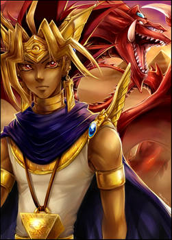 YGO -  Atem and Osiris