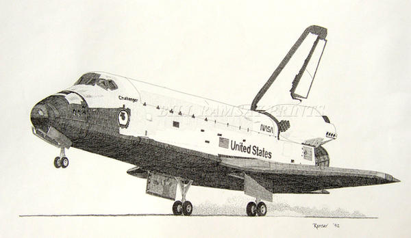 Space Shuttle Challenger by torchf15 on DeviantArt