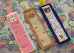 Felt animal bookmark set