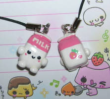 Strawberry Milk Carton charm by kneazlegurl125