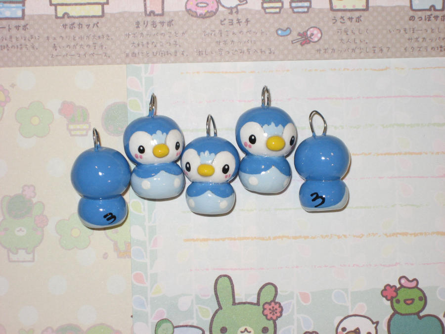 Mini Pokemon Piplup charms by kneazlegurl125