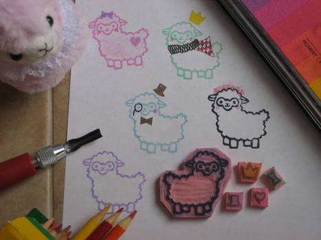 Arpakasso Alpaca Hand Carved Rubber Stamp