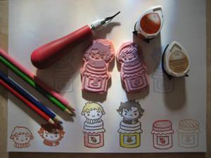 Sherlock and John Honey and Jam Stamp Set