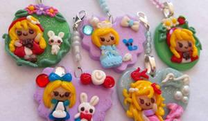 Fairy Tale Polymer Clay Pendant Keychains