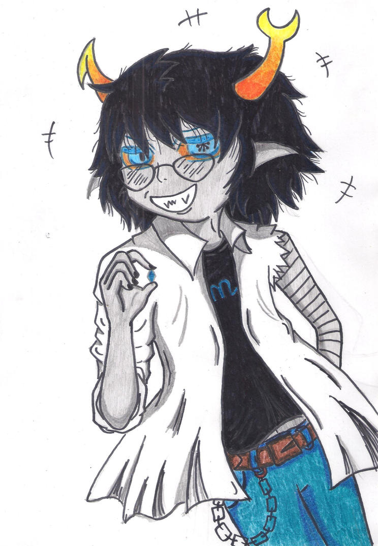 Genderbent Vriska by Ancyd-Watercolour