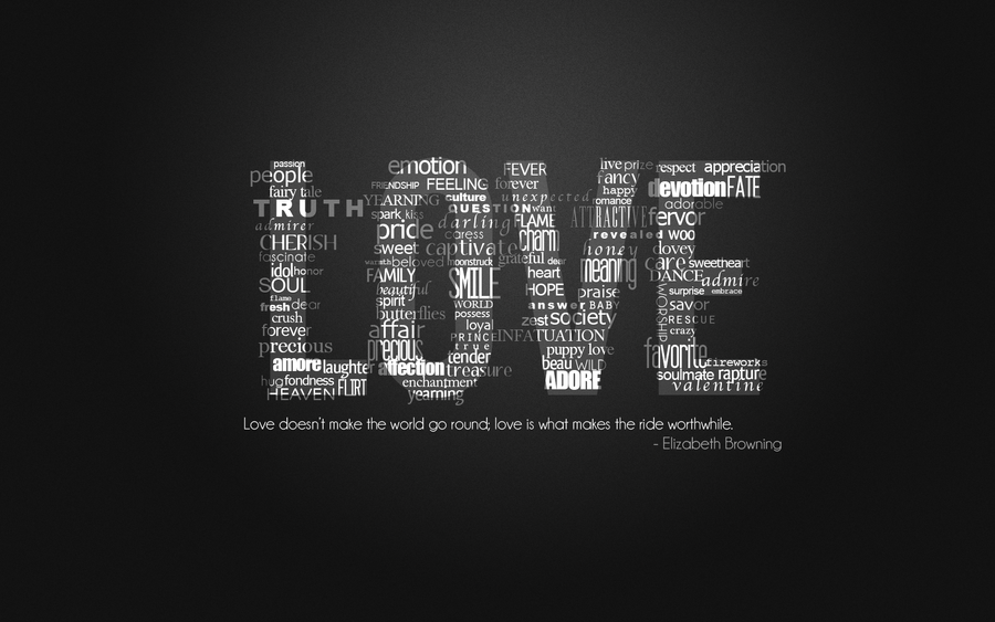 Love Typography Wallpaper By Kyranicole On Deviantart