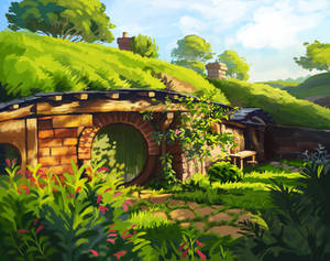 Environment study   Hobbiton