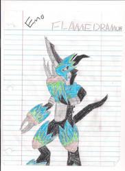 Emo Flamedramon by W0lF3y