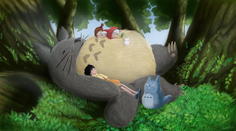 Tonari no Totoro by Beatrix-White